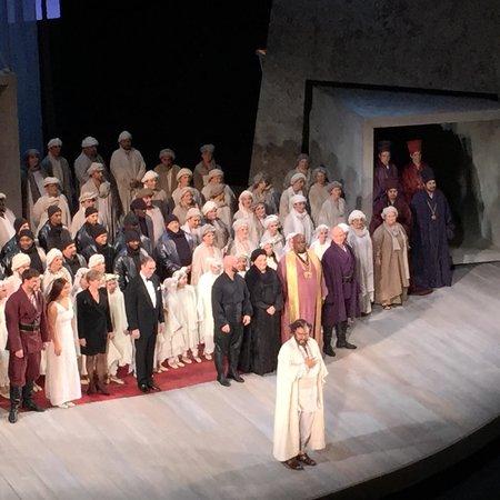 Houston Grand Opera : Best birthday seats ever!!!! Opening night of Otello, October 24, 2014.