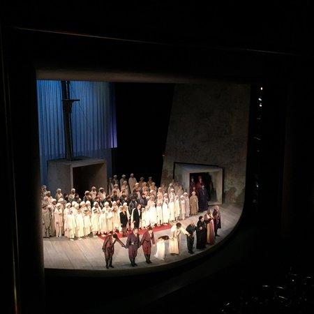 Houston Grand Opera : Best birthday seats ever!!!! Flew from NYC, Opening night of Otello, October 24, 2014. Amazing c
