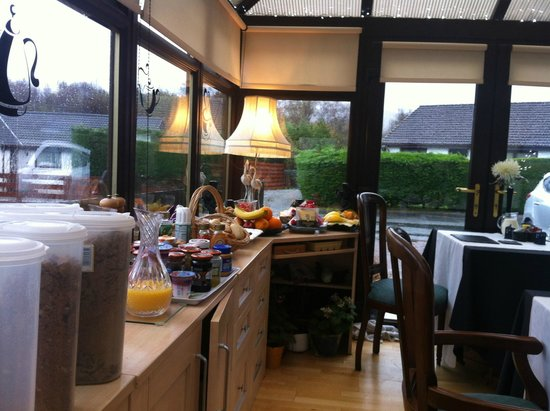 Gleann An Ronnaich: breakfast buffet excluding the cooked items
