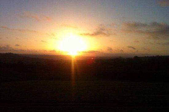 Hollis Hill B & B: Morning sunrise from Rampisham