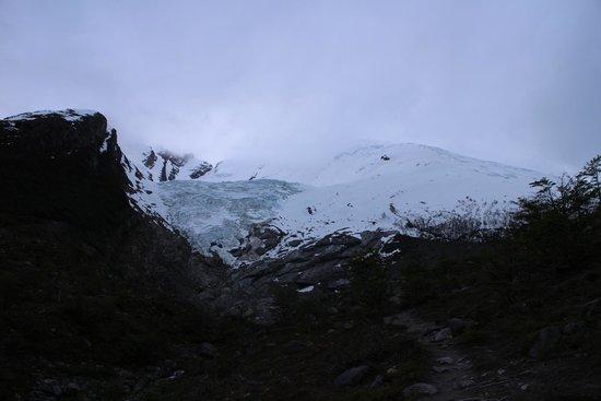 Glaciar Huemul: Desde el ultimo punto de la caminata