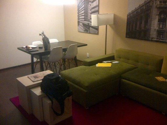 Fiesta Inn Centro Historico: Area de sala de estancia de jr suite