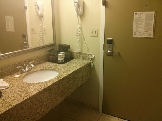 BEST WESTERN The Inn at Buffalo Airport: Sink located across from bathroom in foyer