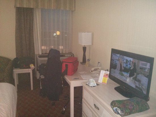 BEST WESTERN The Inn at Buffalo Airport: Plenty of desk space and flat screen TV