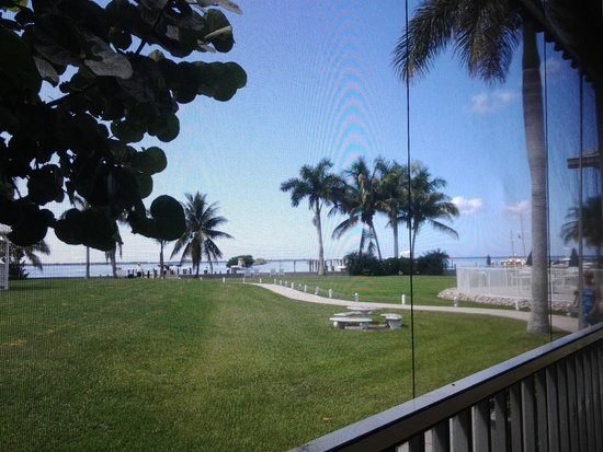 Tarpon Lodge Restaurant: View from our table