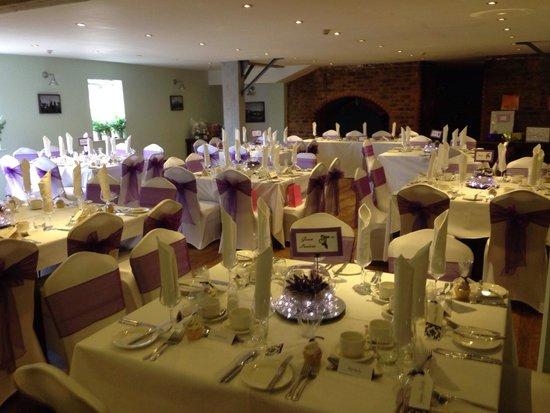 Middletons York: Wedding Dinner Setup