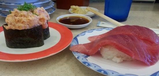 Sushi Bay : Spicy Ahi Gunkan and Maguro Nigiri
