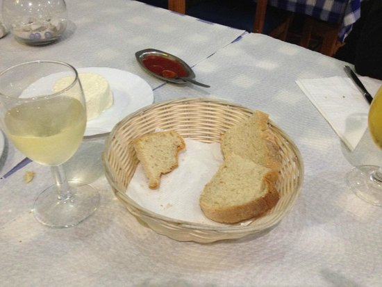 A Traineira Restaurante e Cervejaria: Fresh cheese, bread, and tomato spread