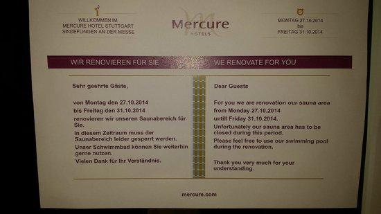 Mercure Hotel Stuttgart Sindelfingen an der Messe: Information
