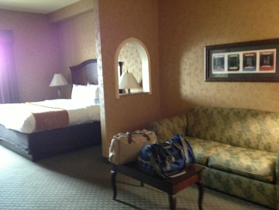 Comfort Suites Alamo/Riverwalk: King bed with sofa for relaxing