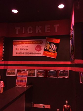 5D Mini Motion Cinema: The Ticketing Counter
