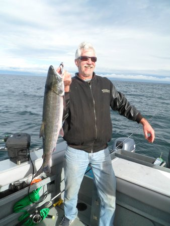 Go Fish Charters: 14 pound Salmon.  Best birthday ever!