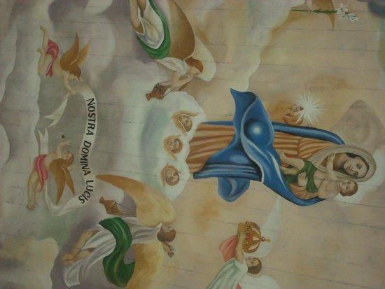 Igreja Da Nossa Senhora Da Luz: pintura no teto