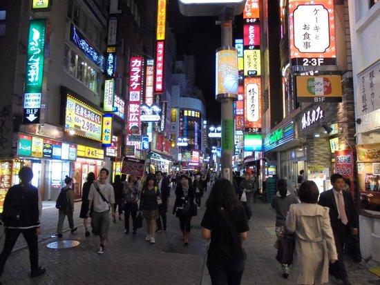 Shibuya Tobu Hotel: Shibuya's busy streets.
