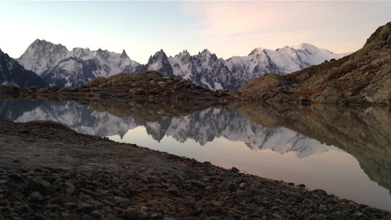 Lac Blanc at sunrise (taken with iPhone 5)