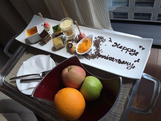 The St. Regis Bangkok: Unbelievable attention to detail and what surprise welcome for our wedding anniversay!!!