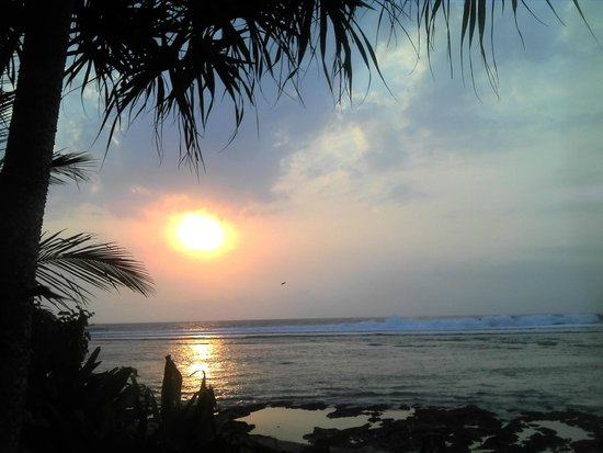 Damai Bungalows: Sunset with a beer