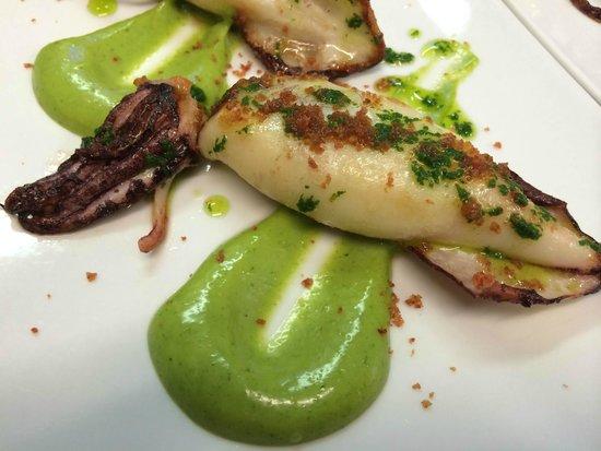 """Restaurante Fusió: CHIPIRÓN CON """"ALL I OLI"""" VERDE"""