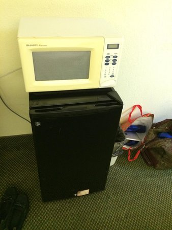 Microtel Inn & Suites by Wyndham Thomasville/High Point/Lexi: Microwave and refrigerator came in handy.