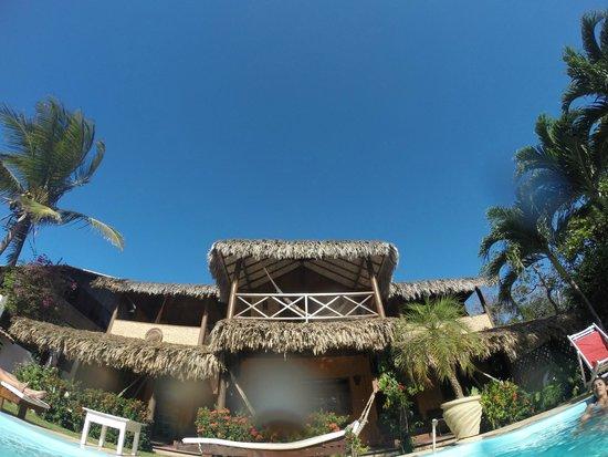 Pousada Maxitalia: Vista de dentro da piscina