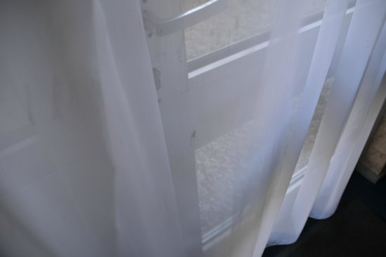 Hotel Zwanenburg: dirty curtains