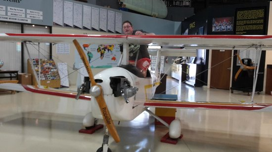 Aerospace Discovery at the Florida Air Museum at Sun 'n Fun: Im Museum kann man einige Exponate direkt ausprobieren