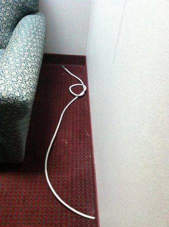 Rodeway Inn and Suites: Electrical wire sticking out of the wall