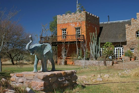 Okambara Elephant Lodge: the Main Building which houses Guest Rooms and the Restaurant, Lounge etc.