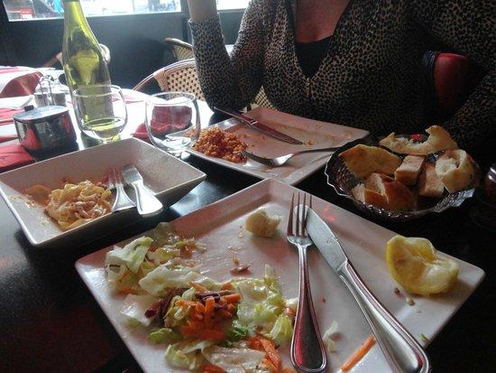 chez alexandre : no pudimos terminar los platos