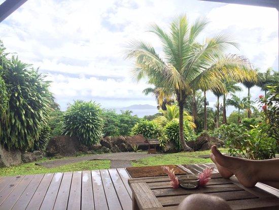 Le Jardin Malanga: Vue de la chambre