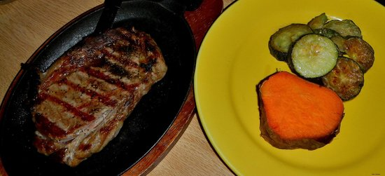 Dove Creek, CO: Ribeye Steak with Sweet Potato