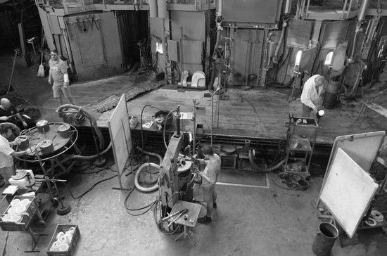 Glasi Hergiswil: Craftsmen working