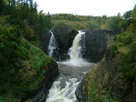 Grand Portage State Forest: The falls