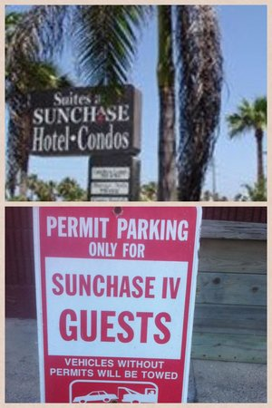 Suites at Sunchase : Very misleading to the average guest! BEWARE, these towing zones completely surround the hotel!