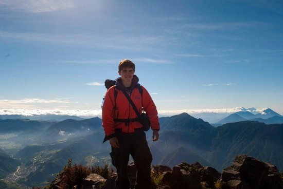 Santa Maria Volcano: En la cima al siguiente día: 7:00 AM
