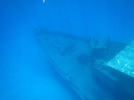 Kittiwake Shipwreck & Artificial Reef: Bow of the wreck