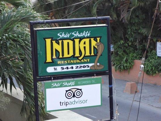 Shiv Shakti Bar and Indian Restaurant : Signboard