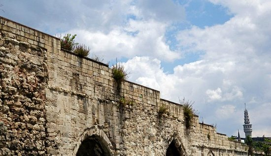 View of tower over aqueduct - Picture of Valens Aqueduct ...