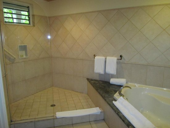 Curtain Bluff Resort: Our jr. suite bathroom