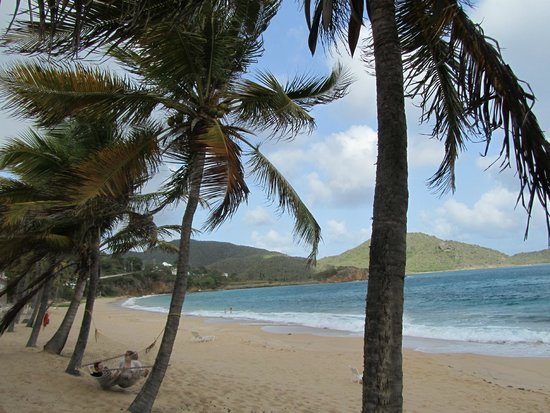 Curtain Bluff Resort: Beautiful beach and views from Curtain Bluff