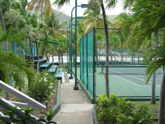 Curtain Bluff Resort: Tennis Court Area At Curtain Bluff
