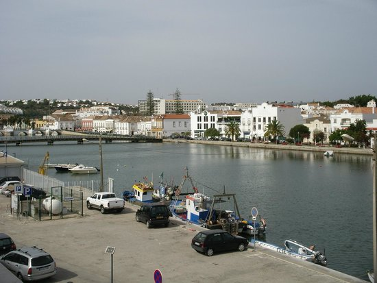 Residencial Mares: View from room balcony towards town