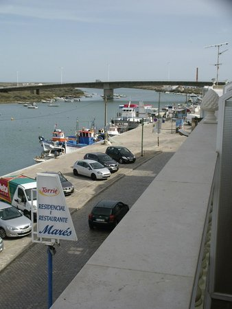 Residencial Mares: View from room balcony towards Ferry, beach and coast
