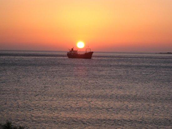 Sunset from Hotel Pal Beach balcony