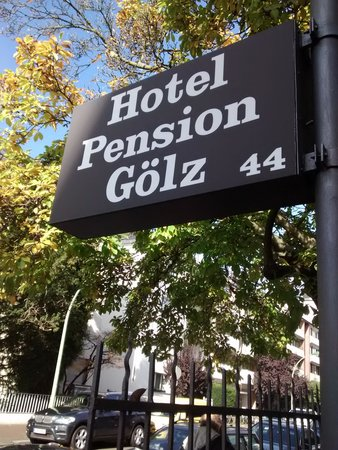 Hotel-Pension Golz: The board outside