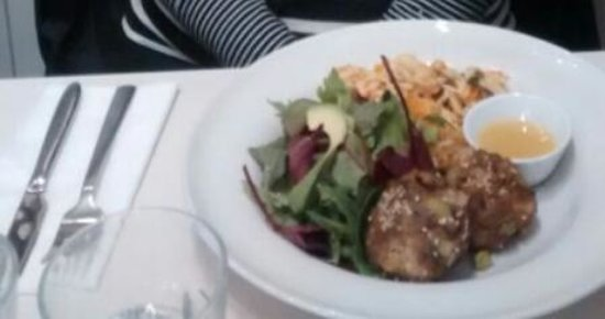 Filmore & Union Harrogate: beancakes, green raw salad, butternut squash and orzo salad £9.50