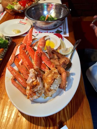Succulent jumbo snow crab legs are a favorite at sammy 39 s for Sammy s fish box