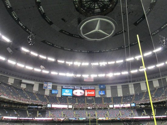 Mercedes Benz Superdome: Inside Pic Of Superdome Roog