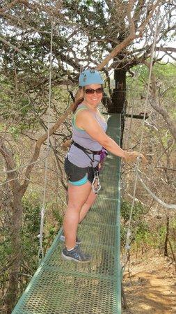 Pura Aventura: Balancing on the Suspension Bridge...