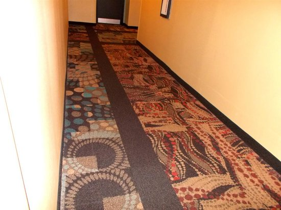 Club-Hotel Nashville Inn & Suites: ugliest carpet I have ever seen